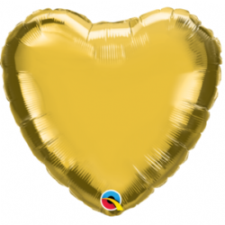 "Gold Heart 9"" Foil Balloon"