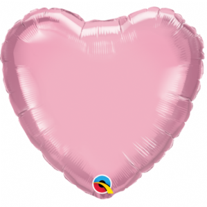 "Pearl Pink Heart 9"" Foil Balloon"
