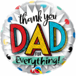 "Thank You Dad 9"" Foil Balloon"