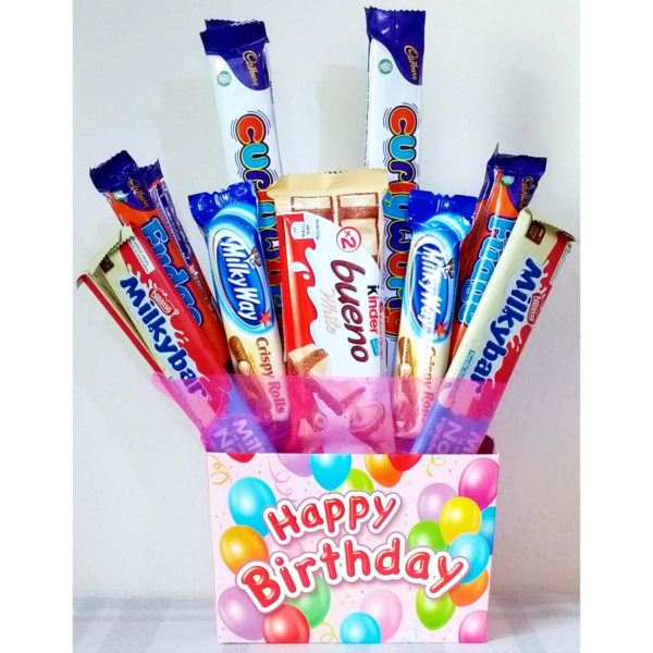 Happy Birthday Chocolate Bouquet for Kids - Pink