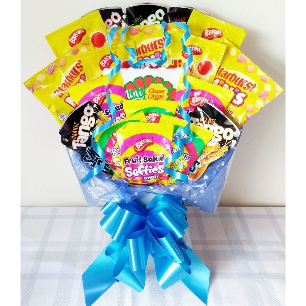 Kids Candy Bouquet finished in Blue